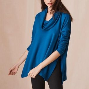 Lou & Grey Cowl Neck Signature Soft Teal Pullover